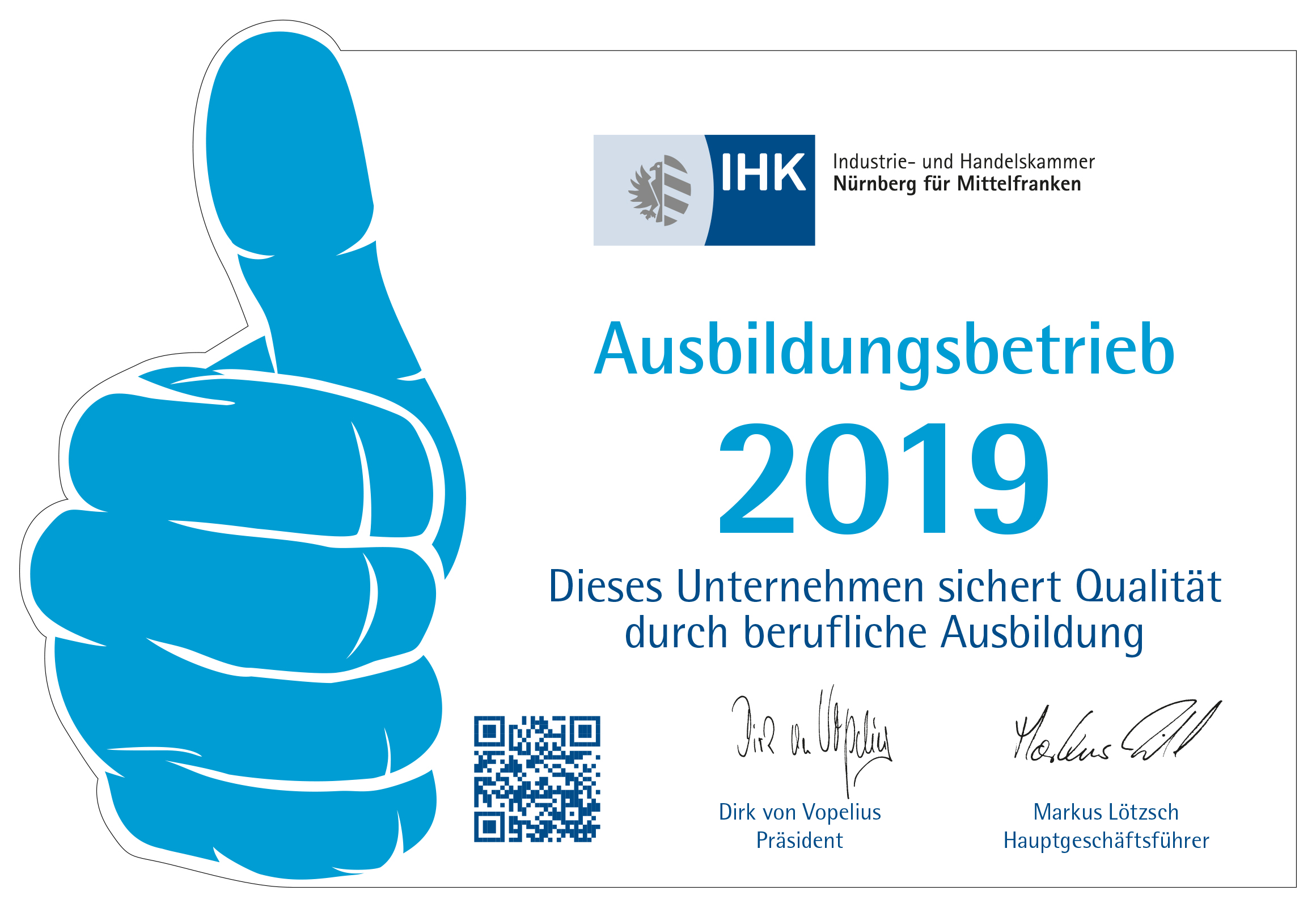 Ramendo e.K. ist anerkannter Ausbildungsbetrieb der IHK Nürnberg